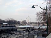 El Sena con la Noria de la Plaza de la Concordia